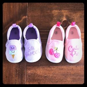 Toddler size 4 slip on shoes
